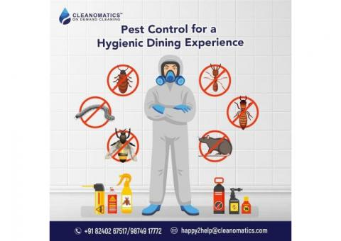 Cleanomatics Pest Control Services for hotels and restaurants.