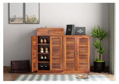 Buy Best shoe cabinet With Seat @Wooden Street