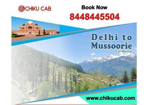 Affordable Delhi to Mussoorie One Way Cab Service-Chiku Cab