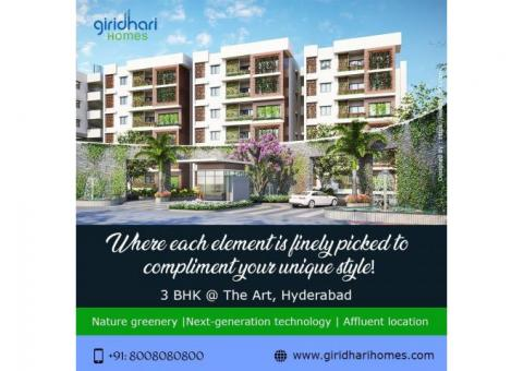3 BHK luxury apartmemts for sale in Hyderabad