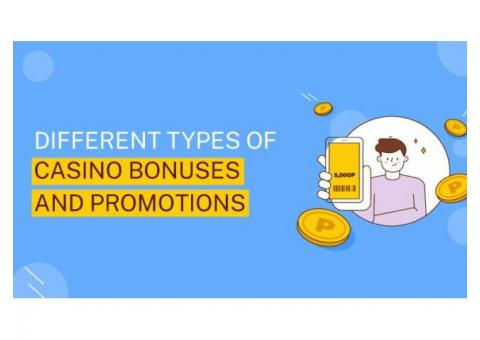Different Types Of Casino Bonuses And Promotions
