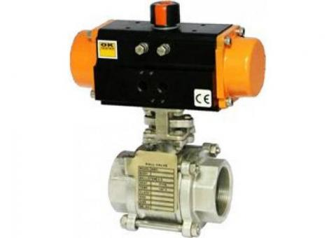 Pneumatic Operated Ball Valves, Pneumatic Actuated Ball Valves