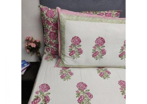 Double Bed Sheets Online - Jaipur Mela
