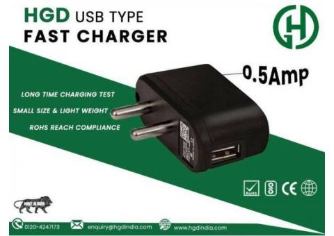 HGD 0.5 Amp USB Charger Manufacturers in Delhi NCR