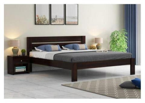 Buy Wooden Double Beds Online in India Upto 70% OFF