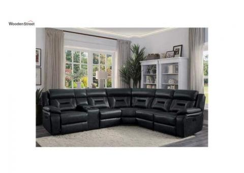 Check Out L Shape Recliner Sofa Online At Wooden Street