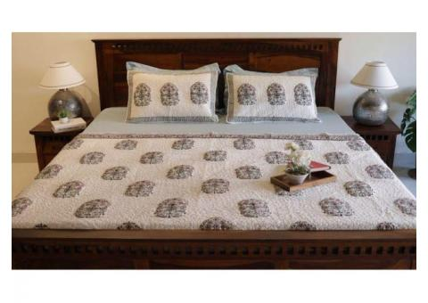 Buy Bed Covers Online only at WoodenStreet at minimal prices