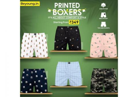 Go For New Trendy Boxers For Men From Beyoung