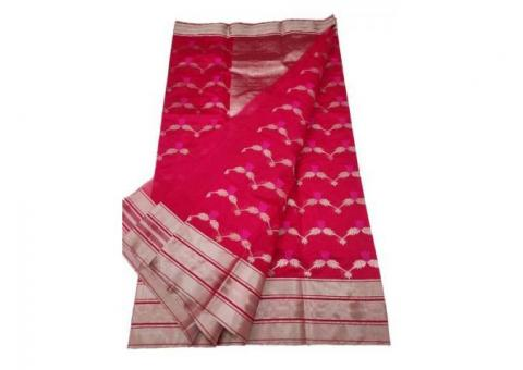 Buy Latest Chanderi Sarees Online | Luxurionworld