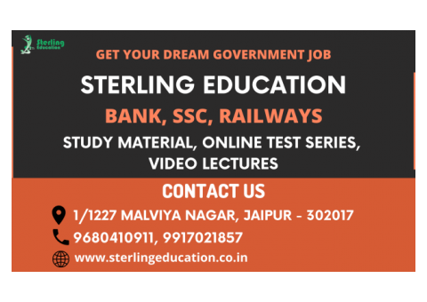 Best Bank PO Coaching Institute in Jaipur | Sterling Education