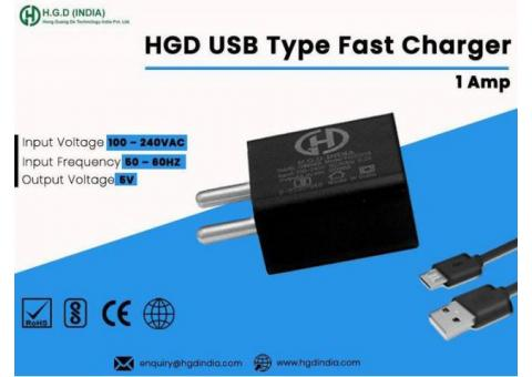 HGD 1 Amp USB Charger Manufacturers in Delhi NCR
