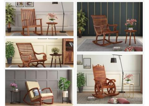 CHECK OUT !! Rocking Chairs Online Up to 55% Off - Wooden Street