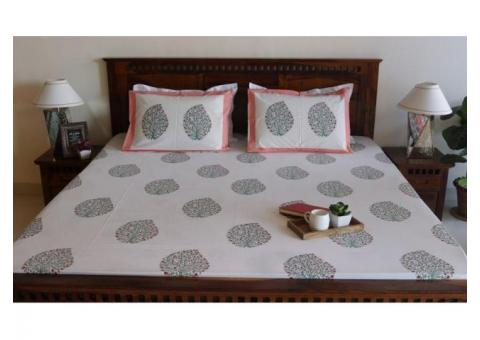 Order Floral Cotton Bed Sheets Online at WoodenStreet