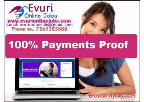 Part Time Home Based Data Typing Jobs