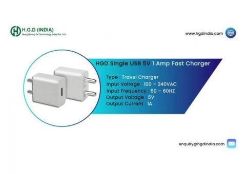 HGD 1 Amp White USB Charger Manufacturers in Delhi NCR