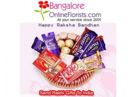 Shop for Alluring Rakhi to Bangalore at a Cheap Price on the Same Day