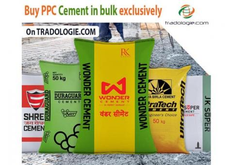 Buy Bulk Ultratech PPC Cement online at best price on Tradologie.com