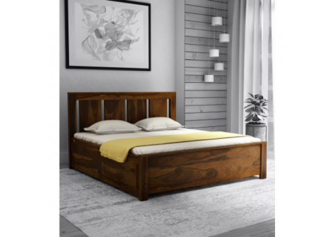 Bring home wooden double beds by customhouzz, 40 to 50 % off.