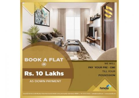 Gated community 2BHK apartments for sale in bowrampet | Sanarelli