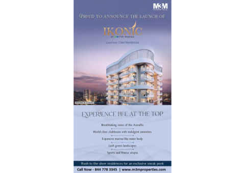 M3M Ikonic At Marina - 2 & 3 BHK Apartments For Sale