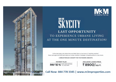 M3M SkyCity in Gurugram - 2 & 3 BHK Apartment for Sale