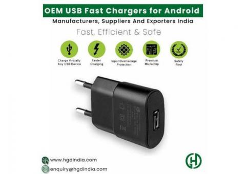 OEM Android USB Fast Chargers Manufacturers In India | HGD INDIA