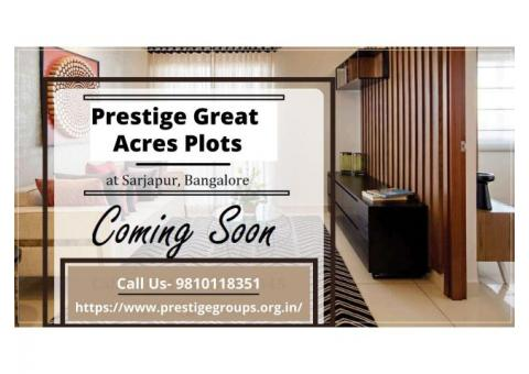 Invest Now And Get Higher ROI on Prestige Great Acres Plots In Bangalore
