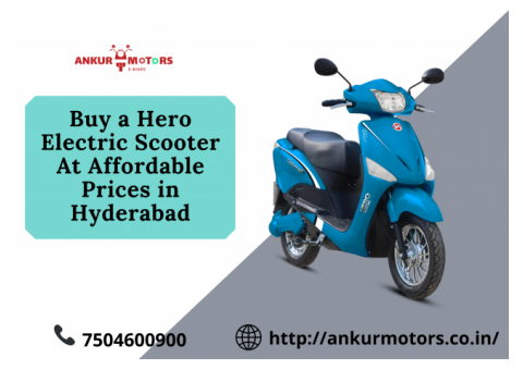 Choose From A Wide Range Of Hero Electric Scooters In Hyderabad
