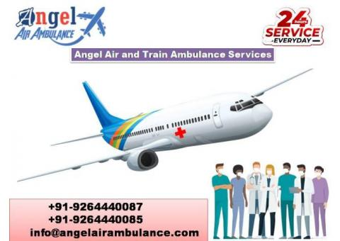 Avail Air and Train Ambulance Service in Varanasi with Doctor's team