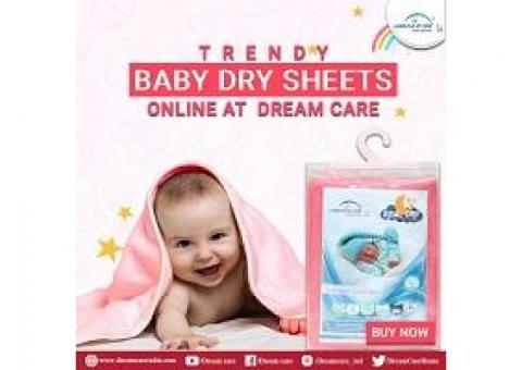Buy Now Trendy Baby Dry Sheets Online At Dream Care