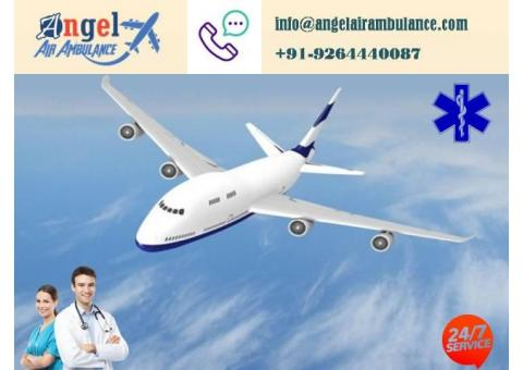 Get hire best ICU Air Ambulance Service in Lucknow by Angel